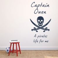 Personalised Pirates Life for Me ~ Wall sticker / decals
